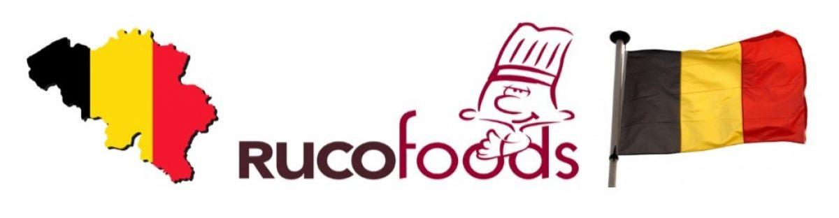 "Rucofoods ""producten België // Rucofoods produits Belgique"